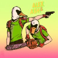 HOTLINE MIAMI 2 _ Alex and Ash by nuttynachos