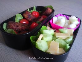 veggie 'n cheese bento by BentoLove