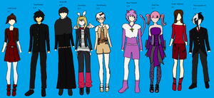 OC Outfits Reference Thingy by elecman108