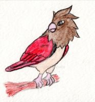 #021 Spearow by Bwabbit