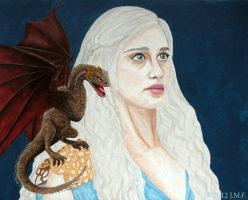 Daenerys Targaryen and Dragon - Game of Thrones by ImagicaArt