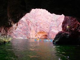 Green Cave in a pink world by ClymberPaddler