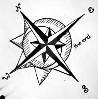 Nautical Compass Tattoo Design (Montauk) by alphillips94