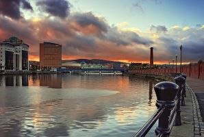 Belfast Laganside Sunset by Gerard1972