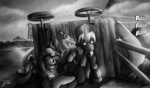 Fanart - MLP. Wasteland Shoot-out by jamescorck