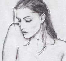 old sketch of girl by dashinvaine