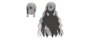 MMD-Mekaku City Actors Female Hair: Marry's Hair by OnnelParamanandini39