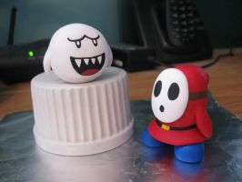 Fimo Boo and Shy-Guy by GtheStalker