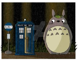 Allons-y Totoro Alternate Version by artbymikaelak