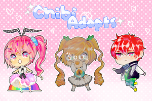 [CLOSED] Chibi Adoptables Auction! by AppeI