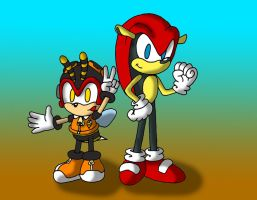 Mighty and Charmy by Wakeangel2001