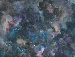 Watercolor Galaxy Test by averyanime