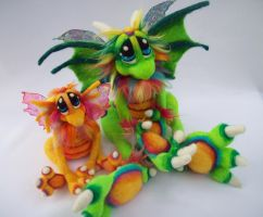 Citrus Sunshine Dragons 2 by Tanglewood-Thicket