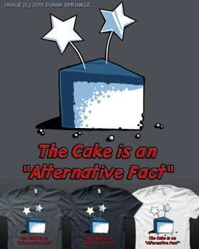 The Cake is an Alternative Fact by amegoddess