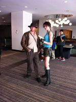 Lara and Indiana Jones 2 by RowanRayne