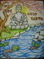 'Tips are Good Karma' Sign by GreenHeethar