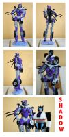 My Decepticon OC Shadow statue by Daelyth