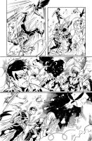 Teen Titans 09 Page 18 Inks by JPMayer