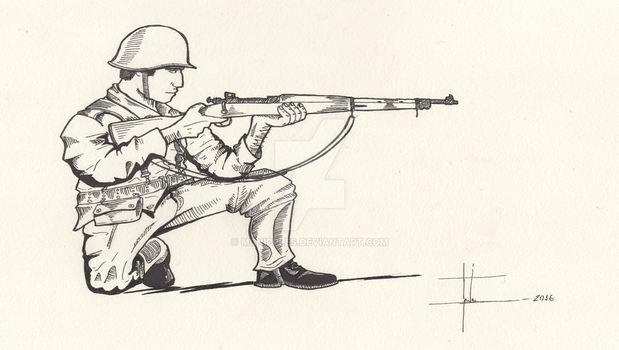 Brazilian Expeditionary Force soldier 1945 by mcnipples