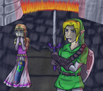 LoZ Ocarina of Time - Final Battle by charliethemew012