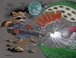 Rocket Raccoon by 93Cobra