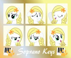 MLP Soprano Keys- Expression Sheets by Fluffation