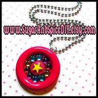 Star Brite Jeweled Necklace by SugarAndSpiceDIY