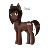 So I drew my Fursona in MLP style by x-LittleKitsune-x