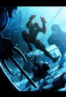Daredevil Vs Ninjas by LivioRamondelli