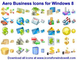 Aero Business Icons for Wi... by Ikonod