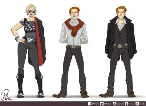 Modern AU Hux and Phasma by verauko