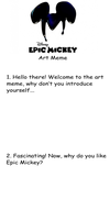 Epic Mickey Art Meme template by D-warrior35