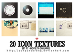 20 icon textures - novelty on by yunyunsarang