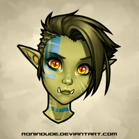 Daily Drawing 5-6-2016 Half Orc Portrait by RoninDude
