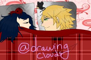 miraculous ladybug sound asleep by DrawingClouds