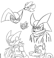 Megaman - Sketches by SWN-001
