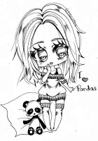 I love pandas by Saviira