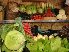 Vegetable Display by SAOstrich