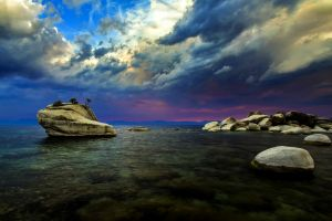 Colorful and Turbulent Skies at Tahoe by sellsworth