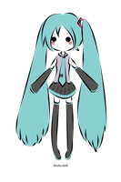 Hatsune Miku by tofu-doll