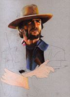 Clint Eastwood WIP by choffman36