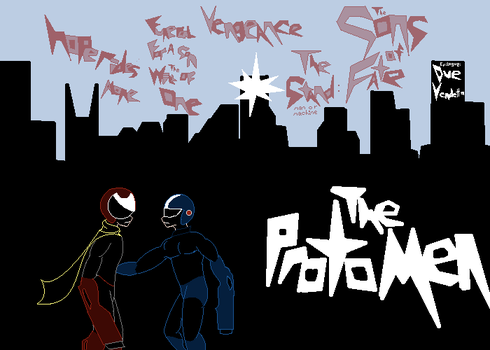 Protomen Act 1 cover redesign by davidblainestmagic