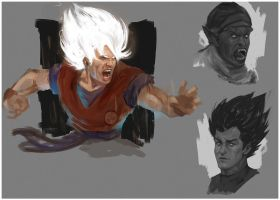 dbz sketches by DanarArt