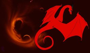 sad red dragon wallpaper by MidnightPurpleDragon