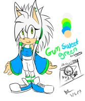 ( New Chara) Gum Sweet Green le hedgehog by Zubwayori