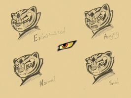 Tigress emotion (sketch) by NeoMakusha