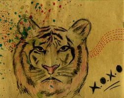 me as a tiger by macanblonteng
