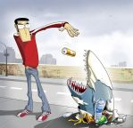 the litter shark by groundfish