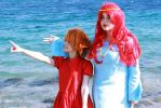 Ponyo and Granmamare by Kharen94th