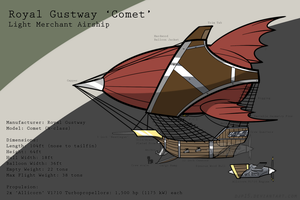 Royal Gustway 'Comet' (Contrail's Airship) by DJP15